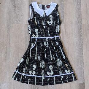 ☠️Folter Glow-in-the-Dark X-Ray skeleton dress S☠️